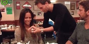 Gerard Butler ve Kız Arkadaşına Restoranda Muhteşem Anlar Yaşatan İllüzyonist