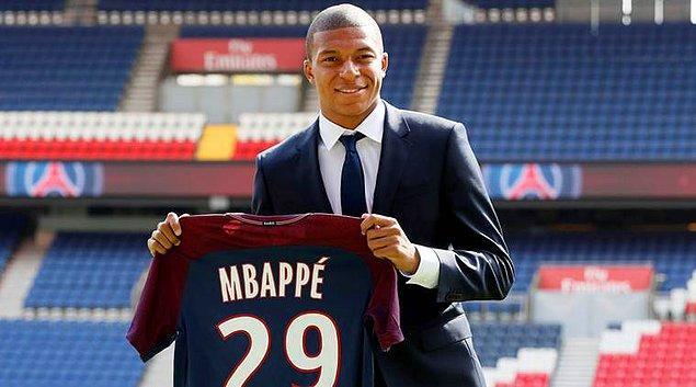2. Kylian Mbappé: 180 Milyon Euro (Monaco ➡ PSG)