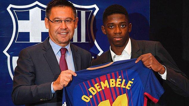 3. Ousmane Dembélé: 105 Milyon Euro (Dortmund➡ Barcelona)
