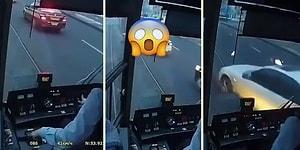 Kendine Ait Yolunda, Düşük Bir Hız ile İlerleyen Tramvaylarla Çarpışmayı Başaran Araç Sürücüleri