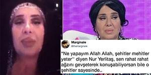 """Instagram'daki Canlı Yayında """"Ne Yapayım Allah Allah, Şehitler Mehitler Yeter!"""" Diyen Nur Yerlitaş'a Tepkiler Büyüyor!"""