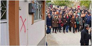 Malatya'da Mahalleliyi Tedirgin Eden Alevi Evlerine Çarpı İşaretleri Atılması Protesto Edildi
