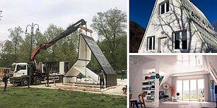 Hediye Paketi Gibi Açılıp 6 Saatte Sıfırdan Kurulan 130.000 Liralık Mimari Harikası Ev