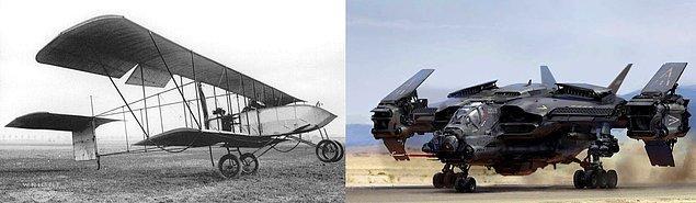 4. İlk olarak 1914 yılında kullanılan savaş uçağından, günümüz süper teknolojili savaş uçaklarına.