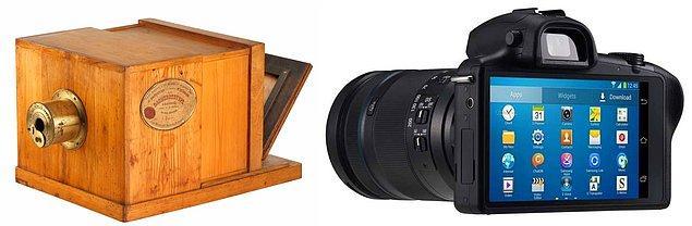7. İlk portatif fotoğraf makinelerinden, elimizden düşürmediğimiz dijital fotoğraf makinelerine.