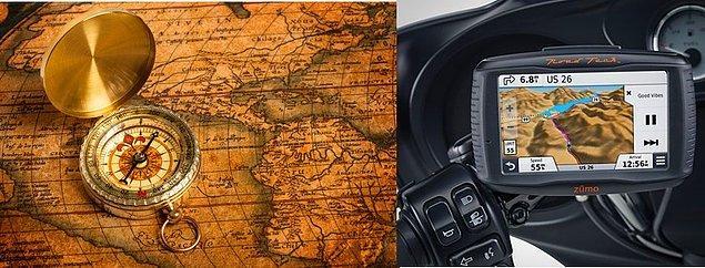 12. Harita ve pusula ile yönümüzü bulduğumuz dönemlerden, GPS teknolojileri ile adres bulduğumuz dönemlere.