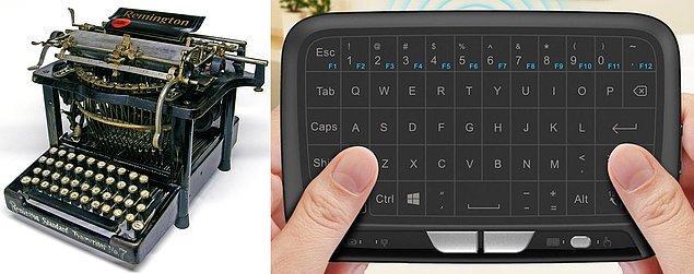 14. Daktilo ile yazı yazdığımız günlerden, dokunmatik klavye kullandığımız günlere.
