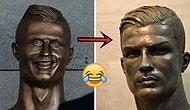 Ronaldo'nun Fiyasko Heykeli Yerine Yenisi Yapıldı ve Bu Sefer Ronaldo'ya Benziyor!