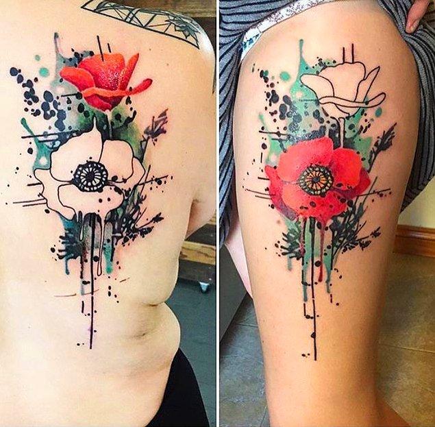 1. Birbirini tamamlayan dövmeler de iyi fikir! 🤔
