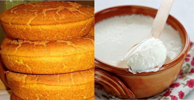 5. Karadenizliler için mısır ekmeği ve yoğurt koca bir öğüne denktir. Karın doyurur ama gözü doyurmaz.