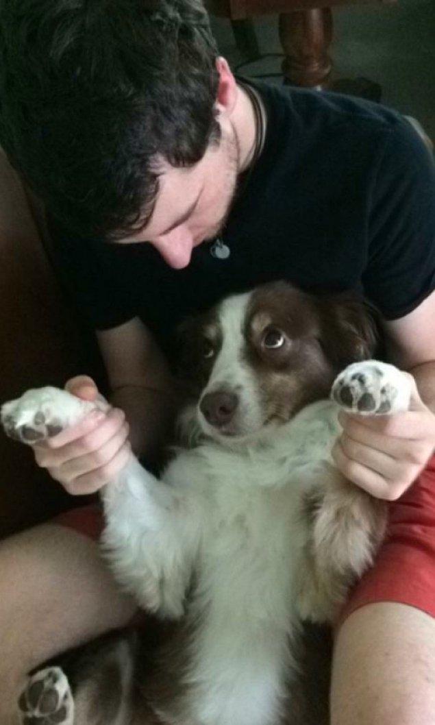 11. 'Kız arkadaşımın köpeğinin bana bakışı içimi eritiyor resmen.'