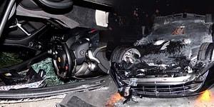 Ölümden Döndü! Trabzonsporlu Burak Yılmaz'ın Kullandığı Araç Takla Attı