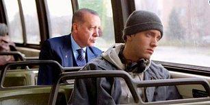 Otobüs Camından Dışarı Seyreden Cumhurbaşkanı Erdoğan'ı Mizahla Selamlamış 15 Kişi