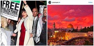 Trump'ın Kudüs Kararına Sosyal Medyada Tepki Gösteren Bella Hadid Londra'daki Protestoya da Katıldı!