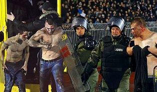 Sırbistan'da 'Ölümsüz Derbi' Olarak Bilinen Partizan-Kızılyıldız Derbisi Olaylı Bitti!