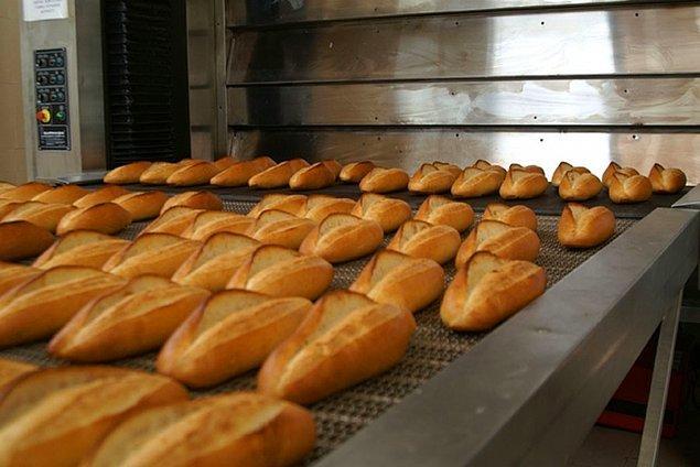 4. Bir tane normal ekmek 90.000 TL
