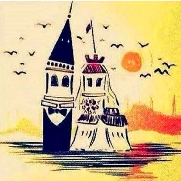 Aşklarının karşılıksız olmadığını gören iki kule, günden güne güzelleşip, daha da parlak durmuşlar İstanbul'da.