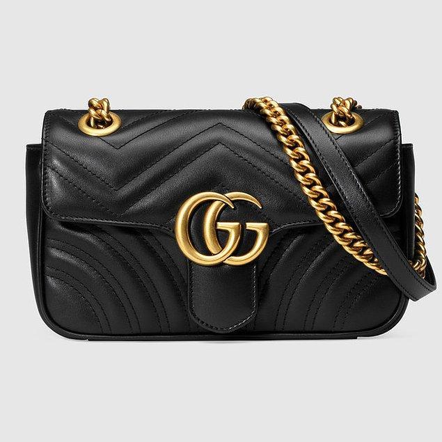 Gucci Marmont model çanta 2.500 Euro, yani 11.350 TL.