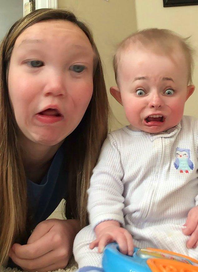 """24. """"Kız arkadaşım bebek bakıcılığı yaparken sıkılmış."""""""