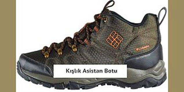 1. Listemize ilk olarak artık literatürümüze 'asistan botu' olarak girmiş; dağcı ayakkabısı ile başlıyoruz.