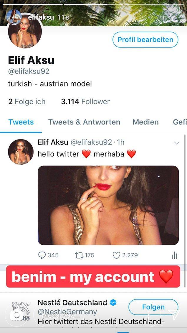 İlk olarak Instagram hikayesinden Twitter hesabını paylaşarak, fake iddialarına açıklık getirdi..