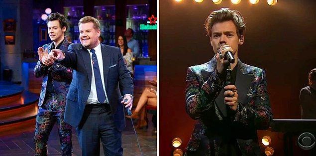 4. Harry Styles ile olan minnoş arkadaşlığını göstermek için tam bir hafta boyunca şarkıcı konuğunu Harry yapması.