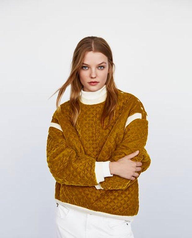 Kontrast oversize sweatshirt