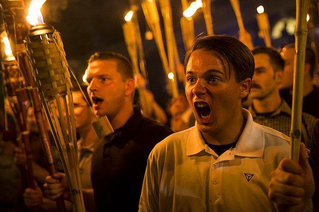 4. ABD'de üniversitede ırkçı gösteri. 📷 Samuel Corum