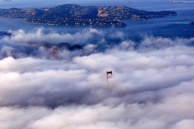 4. Golden Gate Köprüsü sis içinde. 📷 Tayfun Çoşkun