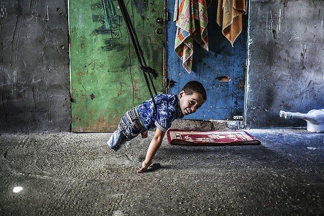 22. Engelli kardeşlerin yaşamı. 📷 Ali Jadallah