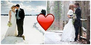Gördükten Sonra Buz Gibi Soğukta, Karlı Bir Günde Bile Evlenmek İsteyeceğiniz Düğün Fotoğrafları