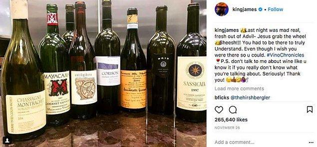 11. Ayrıca kendisi büyük bir şarap hayranı ve #VinoChronicles'ın kralı.