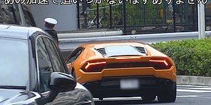 Kural İhlali Yapan Lamborghini'yi Bisikletiyle Takip Edip Ceza Yazan Japonya Polisi