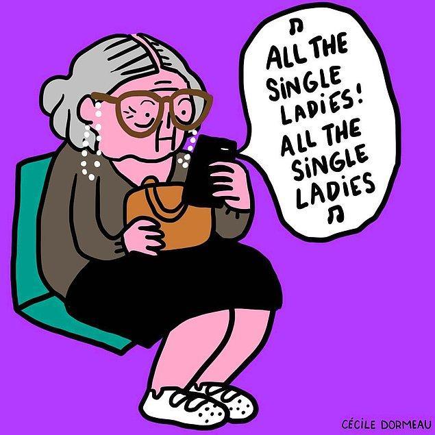 1. All the single ladies, all the single ladies!