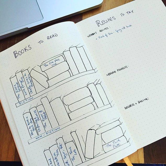 6. Hayatınızı organize etmek için 'bullet-journal'ı deneyin.