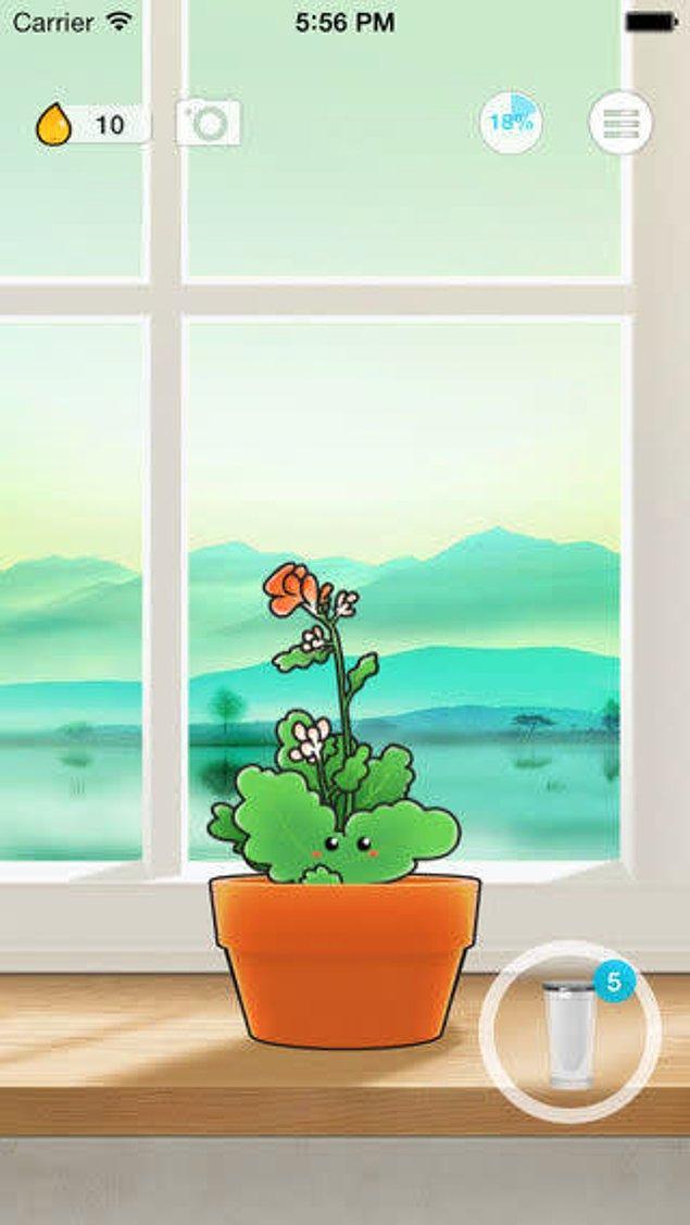 12. 'Plant Nanny' veya benzeri bir uygulamayla çiçeklerini susuz kalmasın diye uğraşırken siz de bol bol su içebilirsiniz.
