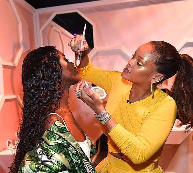 4. Fenty Beauty'yle kendi makyaj ürünlerini piyasaya sunduğunda tabii ki!