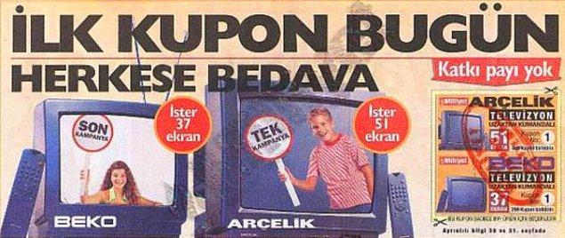 12. Birçok şeye sahip olabilmek için gazeteden kupon biriktirmemiz gerekirdi.