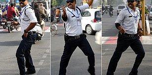 Michael Jackson Hayranı Trafik Polisinin Dans Ederek Trafiği Yönettiği Muhteşem Anlar