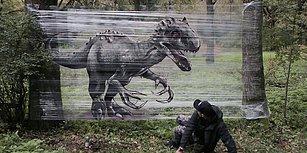 Ormanın Ortasında Görene Üç Buçuk Attıracak Aşırı Gerçekçi Graffitiler