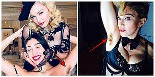"""Madonna ve Kızı Lourdes'in """"Çok da Tın"""" Diyerek Paylaştığı Koltuk Altı Tüylü Fotoğrafları Olay Yarattı"""