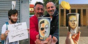 Her Gün Kahve İçip Çöpe Attığımız Bardakları Birer Sanat Eserine Dönüştüren Berk'le Tanışın!