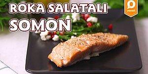 Balık ve Salata İkilisinin En Güzel Hali: Roka Salatalı Somon Nasıl Yapılır?