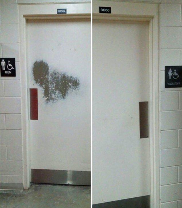 4. Mühendislik fakültesinde erkekler ve kadınlar tuvaleti.