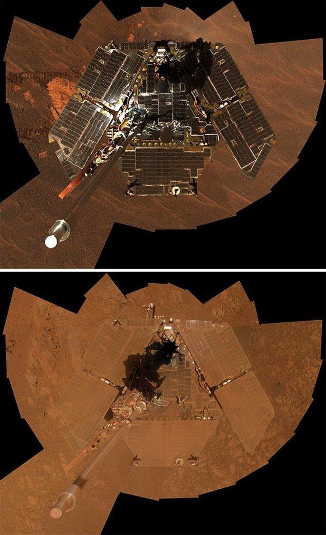 31. 10 yılda kızıl gezegen Mars'ta yaşanan değişiklikler.