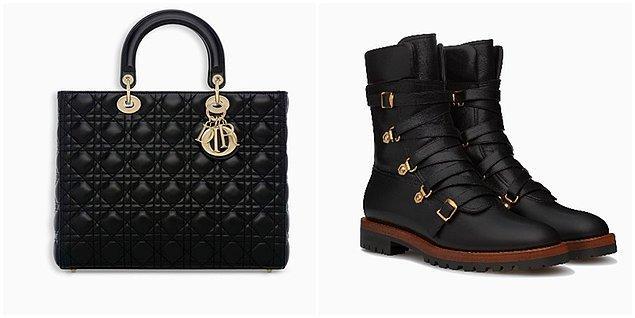 Sarah'ın çanta ve ayakkabısı Christian Dior, kazağı Mes Demoiselles, elbisesi ise Zara.