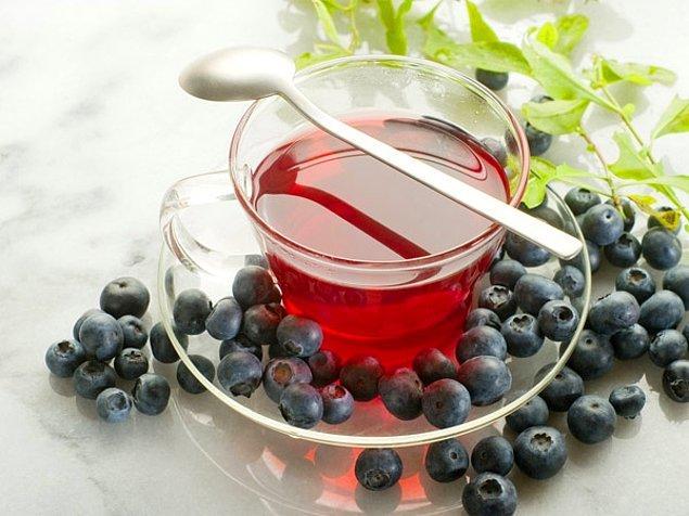 8. Yaban mersini çayı
