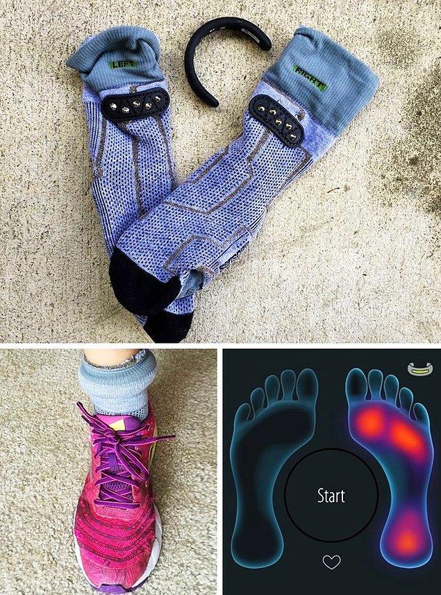 5. Adım sayabilen ve sakatlanmaları haber veren akıllı çorap.