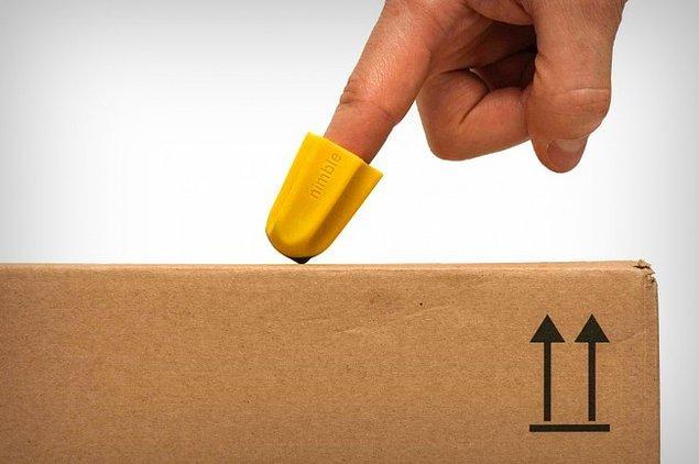 23. Parmakla koli açmanızı mümkün kılan pratik bir aparat.