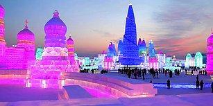 Çin'de Düzenlenen Dünyanın En Büyük Buz Festivalinden Muhteşem Görüntüler